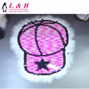 New Design Popular Fashion Reversable Patch with Hair pictures & photos