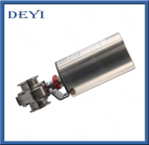 Stainless Steel Pneumatic Butterfly Valve with Intelligent Head pictures & photos