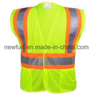 Hi-Vis Reflective PVC Tape Workwear Security Clothes Safety Vest pictures & photos