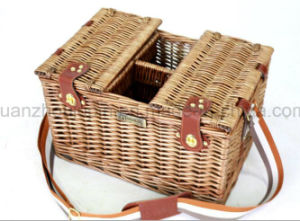 OEM Outdoor Wicker Cane Rattan Storage Picnic Basket pictures & photos