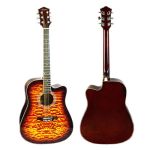 China Aiersi 41 Inch Quilted Skin Top Color Acoustic Guitar pictures & photos