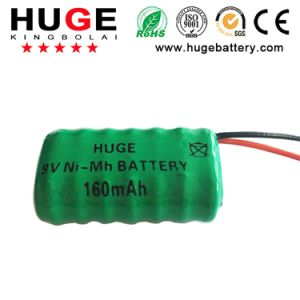 9V 160mAh Ni-mh button cell rechargeable battery pictures & photos