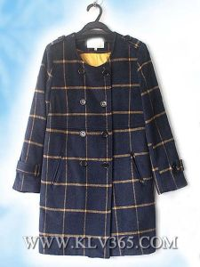 Hot Sale Women Fashion Designer Winter Wool Long Jacket pictures & photos