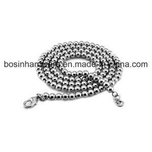 Stainless Steel Ball Chain Necklace with Welded Lobster Clasp pictures & photos