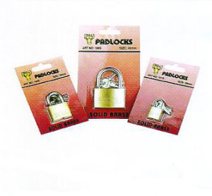 Thin Type Brass Padlock with Skin Pack, Furniture Lock pictures & photos