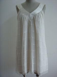 Ladies V Neck Silk Tunic (ST7173)