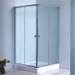 China Bathroom Tempered Glass Square Simple Design Shower Room 90 pictures & photos