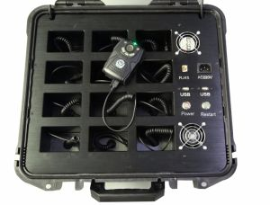 Police Portable Body Camera Docking Station with Loudspeaker and 12 Ports pictures & photos