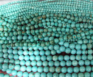 Stabilized Turquoise Round Beads