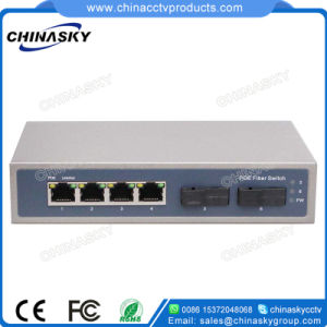 100Mbps 6 Ports Poe Switch with 2 Sc Ports (POE0402SC) pictures & photos