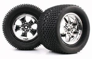 1/8 Monster Truck Tires (Cutter/Spikes) (WC1001)