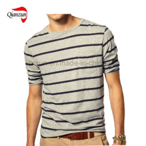 Men′s Combed Cotton Stripes T-Shirts (ZN38) pictures & photos