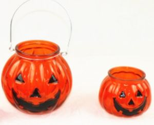 Hanging Grimace Pumpkin Glass Candle Holder/Candle Jar for Holloween pictures & photos