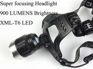 Super Focusing 1, 200 Lumens Xml-T6 LED Head Lamp Headlight pictures & photos