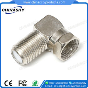 CCTV Female to Male Right Angle F Adapter (CT5074C) pictures & photos