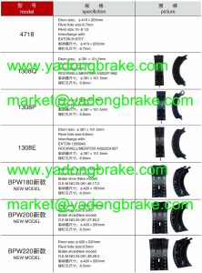 Heavy Duty Brake Shoe/Casting Brake Shoe 335 420 41 20/3354204120/Benz-170 pictures & photos