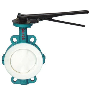 """PTFE Teflon lined butterfly valves to be inserted between flanges """"Wafer""""or """"Lug"""" type"""