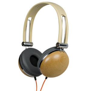Retro Wood DJ Headset #KM880