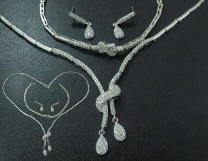 925 Sterling Silver Set (Necklace, Bracelet, Earring)