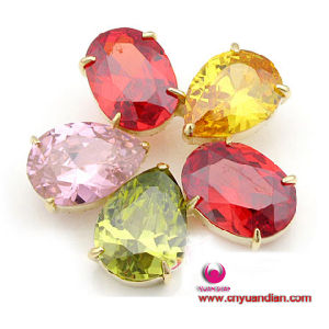 Fashion Colour Glass Stones Quality Cubic Zircon Brooch