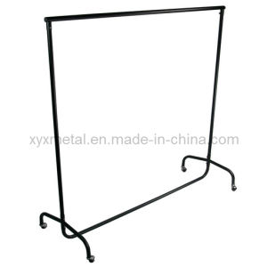 Heavy Duty Rail Clothes Garment Dress Hanging Display Stand Rack pictures & photos