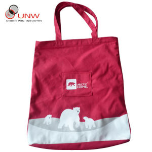 Organic Cotton Bag, Red Tote Bag