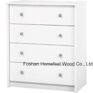 Bedroom Furniture White 4 Drawer Dresser Chest Shelf Organizer pictures & photos