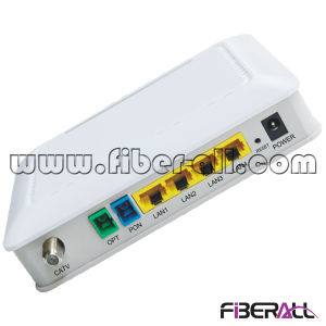 Dual Fiber ONU/Ont for Gpon with 1 Pon 4 Fe 1 WLAN and 1 CATV Port pictures & photos
