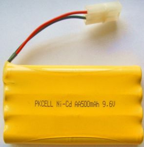 Ni-CD AA Industrial Rechargeable Battery Pack (9.6V 500mAh)