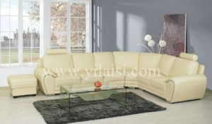 Corner Leather Sofa (925)