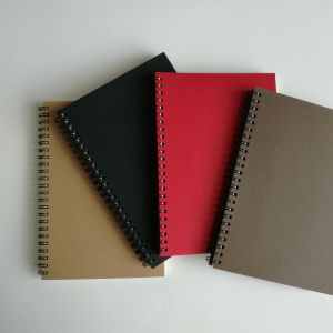 A5 Kraft Paper Spiral Notebook pictures & photos