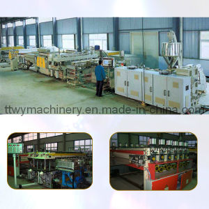 Plastic Hollow Cross Section Plate Extrusion Line (TGB1200) pictures & photos