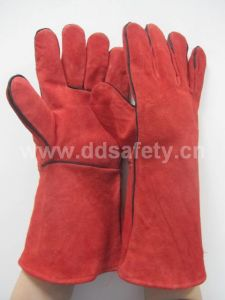 Ddsafety 2017 Full Lining Red Welder Glove pictures & photos