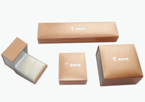 High Quality Paper Jewelry Box with Golden Hot Stamping Logo (YY-J0051) pictures & photos