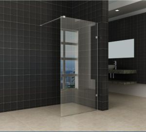 Easy Clean Bathroom Simple Frameless Hinge Shower Door Nano pictures & photos