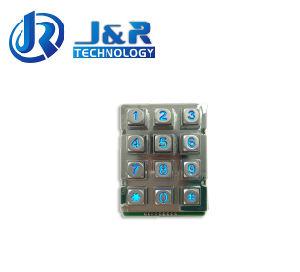 Rugged Keypad, Backlight Metal Keypad, 12 Keys Phone Keyboard pictures & photos