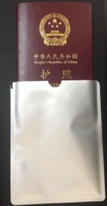 Aluminum Foil RFID Blocking Passport Holder Sleeve pictures & photos