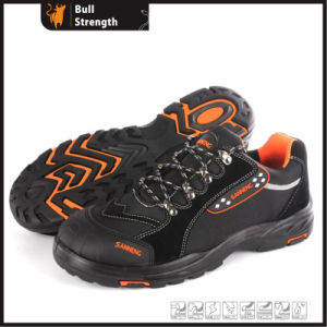 Cow Suede Leather Safety Shoes with New PU/Rubber Sole (SN5462) pictures & photos