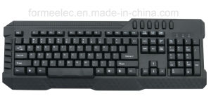 Multi Media Keyboard PC Wired USB Keyboard pictures & photos