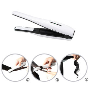 Cordless Portable Mini Hair Flat Iron Rechargeable USB Battery Powered Hair Straightener pictures & photos