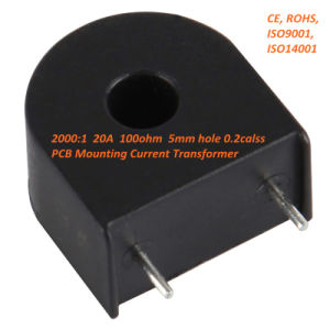 Zmct102 Mini PCB Mounting Current Transformer 2000: 1 20A, 100ohm, 5mm Hole 0.2calss pictures & photos