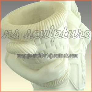White Marble Water Fountain with Maiden for Home Garden Mf048 pictures & photos