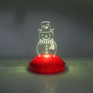 Cute Flameless Romantic Color Changing Magic Electric Christmas Acrylic LED Light for Children pictures & photos