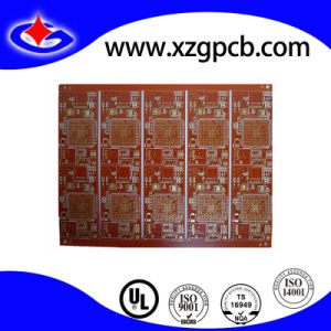 Multilayer Circuit with Red Mask, PCB Board pictures & photos
