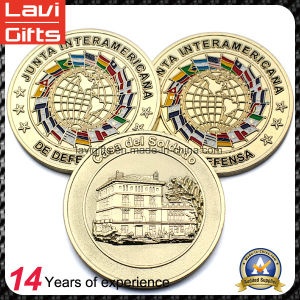 Special Custom 3D Gold Buildings Souvenir Coin pictures & photos