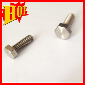 DIN933 Ntural Polishing Gr 5 Titanium Alloy Bolts for Sale pictures & photos