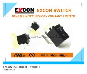 SS01 Bending Terminal Power Rocker Switch for Television STB Control Power Switch pictures & photos