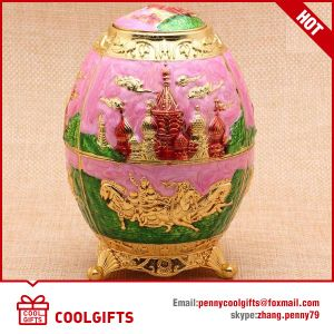 2016 New Home Decorative Russia Egg Metal Auto Toothpick Holder pictures & photos