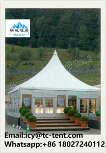 Outdoor 3mx3m, 4mx4m, 5mx5m Aluminum PVC Pagoda Canopy Gazebo Tent pictures & photos