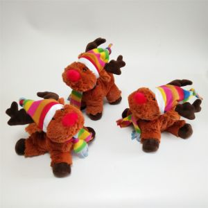 Xmas Snowy Days Gift Friends Moose Lovely Plush Toy pictures & photos